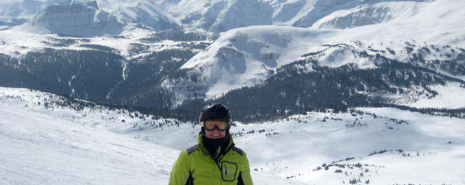 Skiing in the Rocky Mountains - a view like no place else