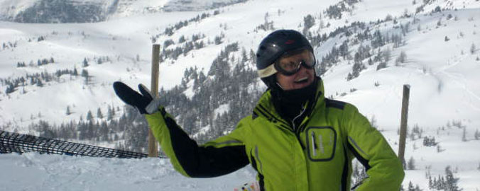 Skiing in the Rocky Mountains - A Happy Customer
